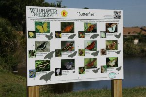 Wildflower Preserve Butterfly Sign