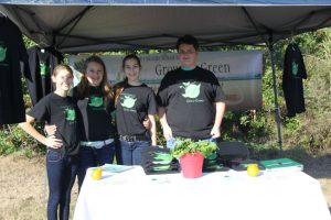 Students from the L.A. Ainger Grow Green Club at their booth